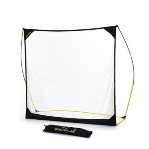 クイックプレイ マルチスポーツ用 大型集球ネット クイックヒット 2.4m×2.4m ゴルフ 軟式野球 テニス等 バッティングネット 8QH|caply
