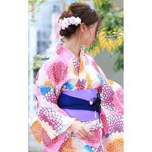 ゴールドジャパン 大きいサイズ レディース クリップ ピン 花 髪飾り 和装 和服 浴衣 小物 コサージュ かんざし ヘアアクセサリー yu|caply