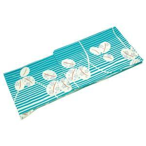 (ソウビエン) レディース浴衣 水色 ターコイズブルー 萩 縞 ストライプ 古典 モダン 綿 コットン 夏祭り 花火大会 女性用 仕立て上が|caply