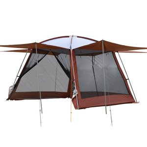 Hewflitスクリーンテント 蚊帳テント 3m×3m メッシュシート UVカットワンタッチスクリーンテント キャンプ用品 防虫 通気性 収|caply