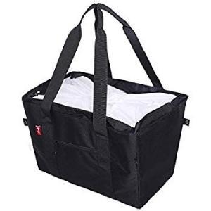 nicoly 肩から提げれる 保冷ショッピングバッグ 26L (黒)