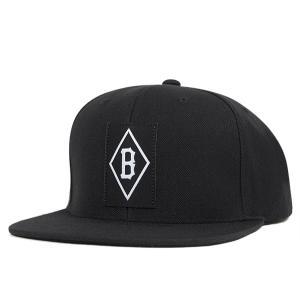 ブラックスケール スナップバック キャップ ラベル ブラック 帽子