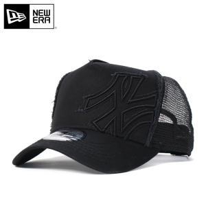ニューエラ NEW ERA Dフレーム トラッカーメッシュキャップ バタリオン ニューヨーク ヤンキース ブラック 帽子