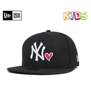 ニューエラ NEW ERA キッズ スナップバック キャップ ニューヨーク ヤンキース ハート ブラック 帽子