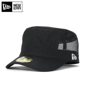ニューエラ ワークキャップ 帽子 メッシュキャップ NEW ERA ブラック|caponspotz