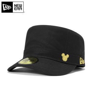 ニューエラ NEW ERA×ディズニー ワーク ミリタリー キャップ ミッキー ブラック 帽子