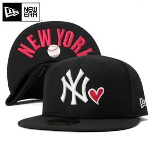 ニューエラ NEW ERA キャップ ニューヨーク ヤンキース ハート アンダーバイザー ニューヨーク ブラック 帽子