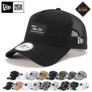 別注 ニューエラ メッシュキャップ 帽子 9FORTY BLACK PATCH NEW ERA メン...