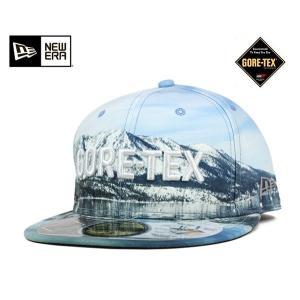ニューエラ NEW ERA×ゴアテックス アウトドア キャップ レイクタホ プリント 帽子