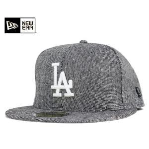 ニューエラ NEW ERA キャップ ロサンゼルス ドジャース ツイード トリム グレー 帽子