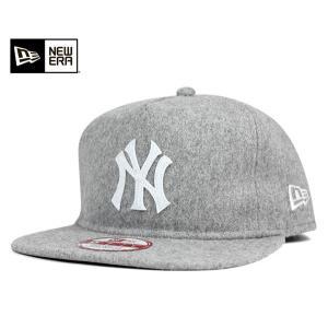 ニューエラ NEW ERA スナップバック キャップ ニューヨーク ヤンキース メルトン グレー 帽子