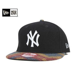 ニューエラ NEW ERA スナップバック キャップ ニューヨーク ヤンキース ネイティブ メルトン ブラック 帽子