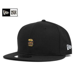ニューエラ NEW ERA キャップ スナップバック キャップ マイクロ ロゴ バーガー ブラック 帽子