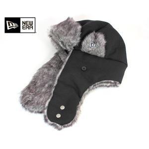 ニューエラ NEW ERA トラッパー ウール ブラック 帽子