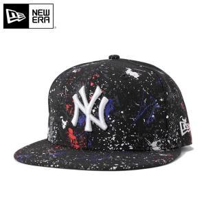 ニューエラ NEW ERA キャップ ニューヨーク ヤンキース スプラッシュ プリント ブラック 帽子
