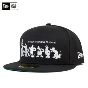ニューエラ NEW ERA×ディズニー キャップ シルエット フレンズ ブラック 帽子