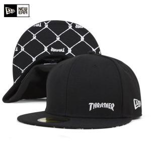 ニューエラ キャップ スラッシャー コラボ 帽子 NEW ERA THRASHER 59FIFTY ブラック|caponspotz