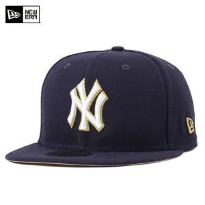 ニューエラ キャップ 帽子 NEW ERA 59FIFTY ヤンキース ネイビー|caponspotz