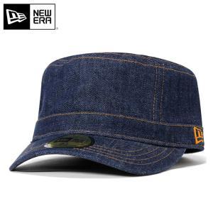 ニューエラ NEW ERA ワーク ミリタリー キャップ インディゴデニム 帽子