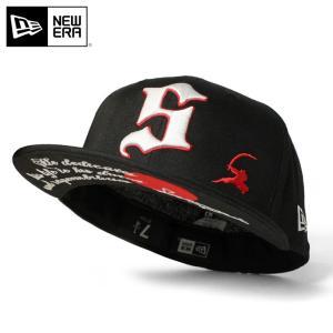 別注 ニューエラ キャップ 帽子 59FIFTY SAMURAI ブラック caponspotz
