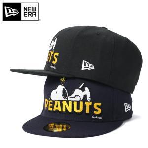 ニューエラ ピーナッツ コラボ キャップ 帽子 59FIFTY SNOOPY ON LOGO NEW ERA PEANUTS メンズ a6d1163c6e89