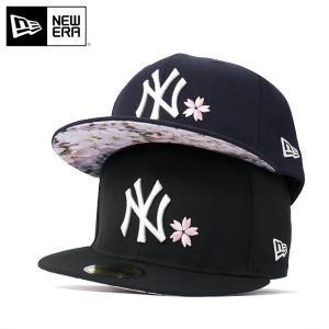 ニューエラ キャップ 帽子 59FIFTY SAKURA MLB ニューヨークヤンキース NEW ERA メンズ|caponspotz