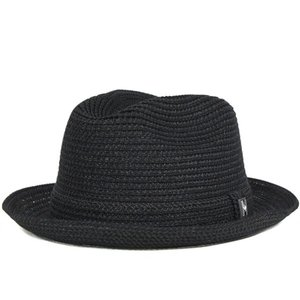 ピーターグリム ストローハット 帽子 PETER GRIMM ブラック 【返品・交換対象外】...
