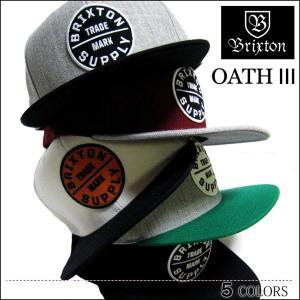 BRIXTON ブリクストン CAP キャップ OATH3 スナップバック CAP SNAPBACK ブラック メンズ レディース スケート ロンハーマン|capsule091
