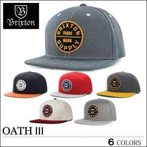 BRIXTON ブリクストン キャップ OATH3 スナップバック CAP SNAPBACK ブラック バーガンディ ヘザーグレー ライトブルー レディース スケート ロンハーマン|capsule091