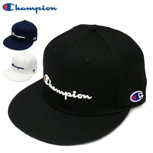 チャンピオン ストレートキャップ Champion ベースボールキャップ 送料無料 スナップバック BBキャップ CAP ブラック ホワイト ネイビー 帽子 メンズ レディース|capsule091
