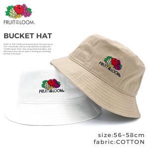 ゆうパケット送料無料 フルーツオブザルーム FRUIT OF THE LOOM バケットハット 別注 帽子 ロゴ バケハ バケット メンズ レディース|capsule091