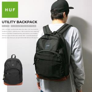 HUF リュック ハフ バッグ 送料無料 バックパック デイバッグ ブラック UTILITY BACKPACK キース ハフナゲル スケート メンズ レディース|capsule091