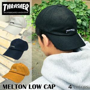 スラッシャー THRASHER cap 帽子 キャップ メンズ レディース 送料無料 GONZ MAG ゴンズ マグ メルトン ローキャップ POLO CAP ポロ がんちゃん 16TH-C56|capsule091