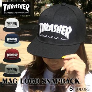 【レビュー記載送料無料】 スラッシャー ベースボールキャップ メンズ レディース THRASHER ストレート cap マグロゴ MAGLOGO 帽子 スナップバック 17TH-C04|capsule091