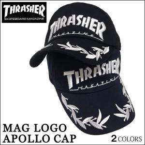 【レビュー記載で送料無料】キャップ メンズ レディース THRASHER スラッシャー cap アポロキャップ 帽子 MAGLOGO マグロゴ ブラック ネイビー|capsule091