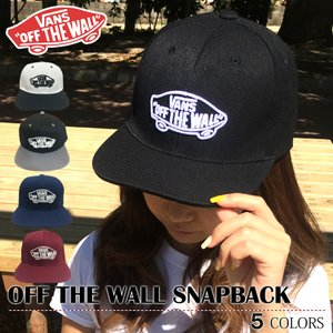 VANS/バンズ OFF THE WALL SNAPBACK  カラー:BLACK、WHITE、NA...