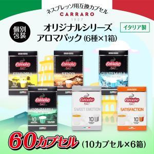 ネスプレッソ 互換 コーヒーカプセル アマロパック  60カプセル 1箱10カプセル 6箱 【個別包...