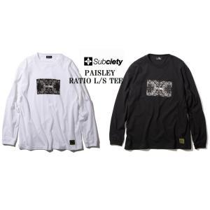 サブサエティ 長袖Tシャツ Subciety PAISLEY RATIO L/S|captain79