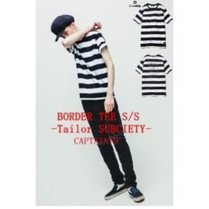 サブサエティ ボーダー半袖Tシャツ テーラーサブサエティ Subciety BORDER TEE S/S-Tailor SUBCIETY|captain79