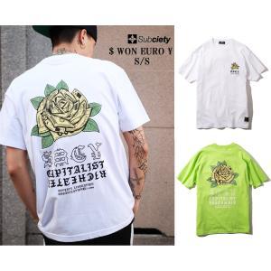 サブサエティ ドル、ウォン、ユーロ、円半袖Tシャツ Subciety $WC¥ S/S|captain79