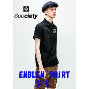 サブサエティ エンブレムシャツ 半袖 オックス Subciety EMBLEM SHIRT S/S-OX-|captain79