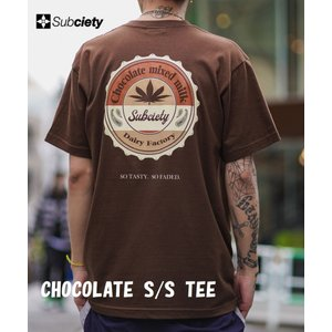 サブサエティ チョコレート半袖Tシャツ Subciety CHOCOLATE  S/S TEE|captain79