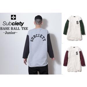 サブサエティ ベースボール7分袖T Subciety BASE BALL TEE-Junior|captain79