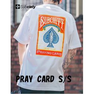 サブサエティ プレイカード半袖Tシャツ Subciety PRAY CARD S/S マリア 2色展開|captain79