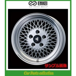 15インチ 8J 4H P.C.D:100 INSET:25 ハブ径:φ72.6 エンケイ(ENKEI)ホイール エンケイネオクラシック ENKEI 92 カラー:Silver with Machined Lip 2本セット car-cpc