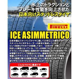 (在庫有)(2017年製)(4本特価) 155/65R14 ピレリ アイスアシンメトリコ 14インチ スタッドレスタイヤ 4本セット 送料無料 正規品|car-mania|02