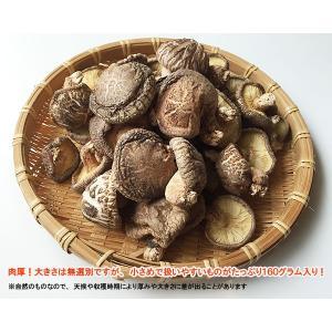 送料無料! 京丹波産 原木栽培干ししいたけ小さめ無選別 160g|car-media|02