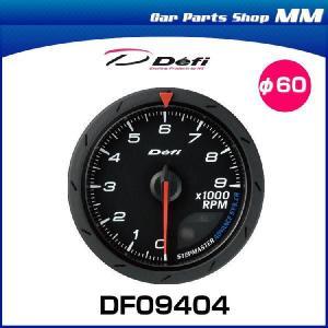 日本精機 Defi デフィ DF09404 Defi-Link Meter アドバンス CR タコメーター φ60 文字板色:黒 (表示範囲:0RPM〜9000RPM) car-parts-shop-mm
