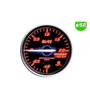 BLITZ ブリッツ No.19591 レーシングメーターSD ブースト圧計 φ52(WHITE指針、RED照明)|car-parts-shop-mm