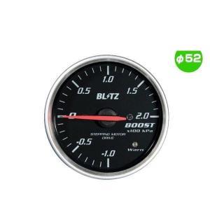 BLITZ ブリッツ No.19571 レーシングメーターSD ブースト圧計 φ52(RED指針、WHITE照明)|car-parts-shop-mm